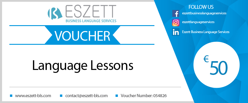 Gift Voucher Language lessons at Eszett